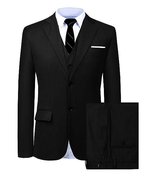 Amazon.com: Wemaliyzd - Traje de negocios para hombre, 3 ...