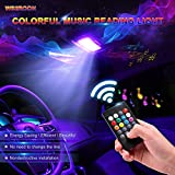 #4: Wsiiroon Car Led Dome Lights - 5050 24SMD Multicolored Car Interior Reading Lights with Sound Active Function and Universal T10/BA9S Adapters(2Pack, DC 12V)