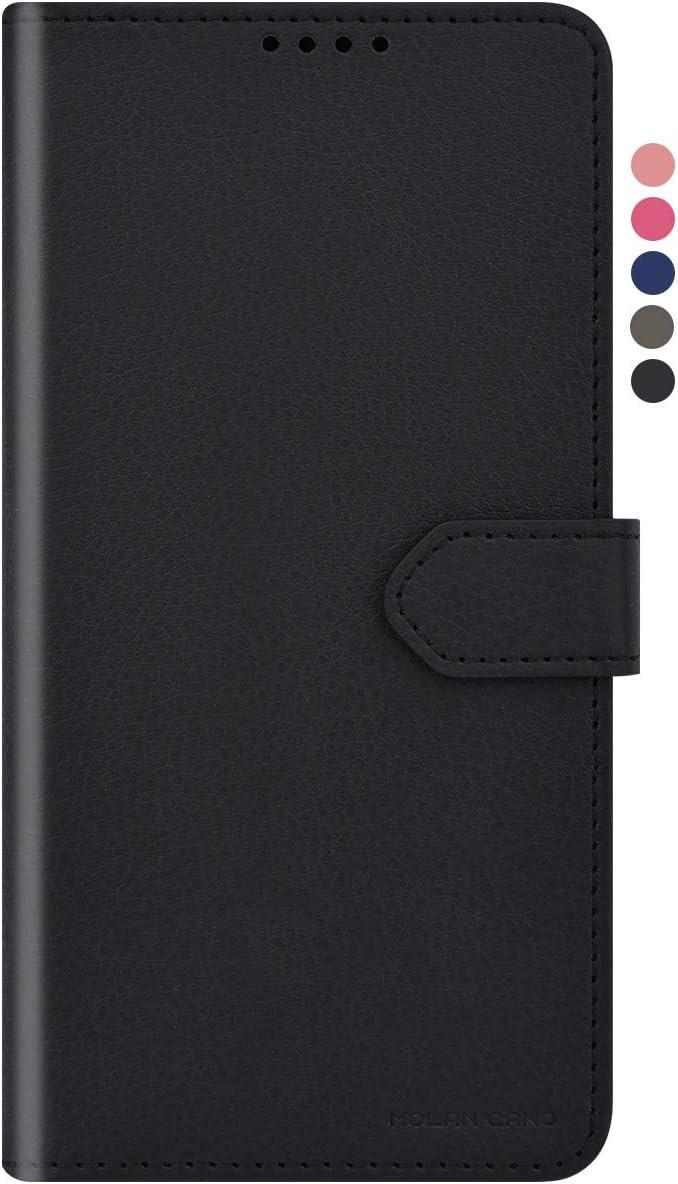 Qoosan Galaxy S20 FE 5G Wallet Case for Women Men, Folding PU Leather Flip Phone Case with Card Holder, Black