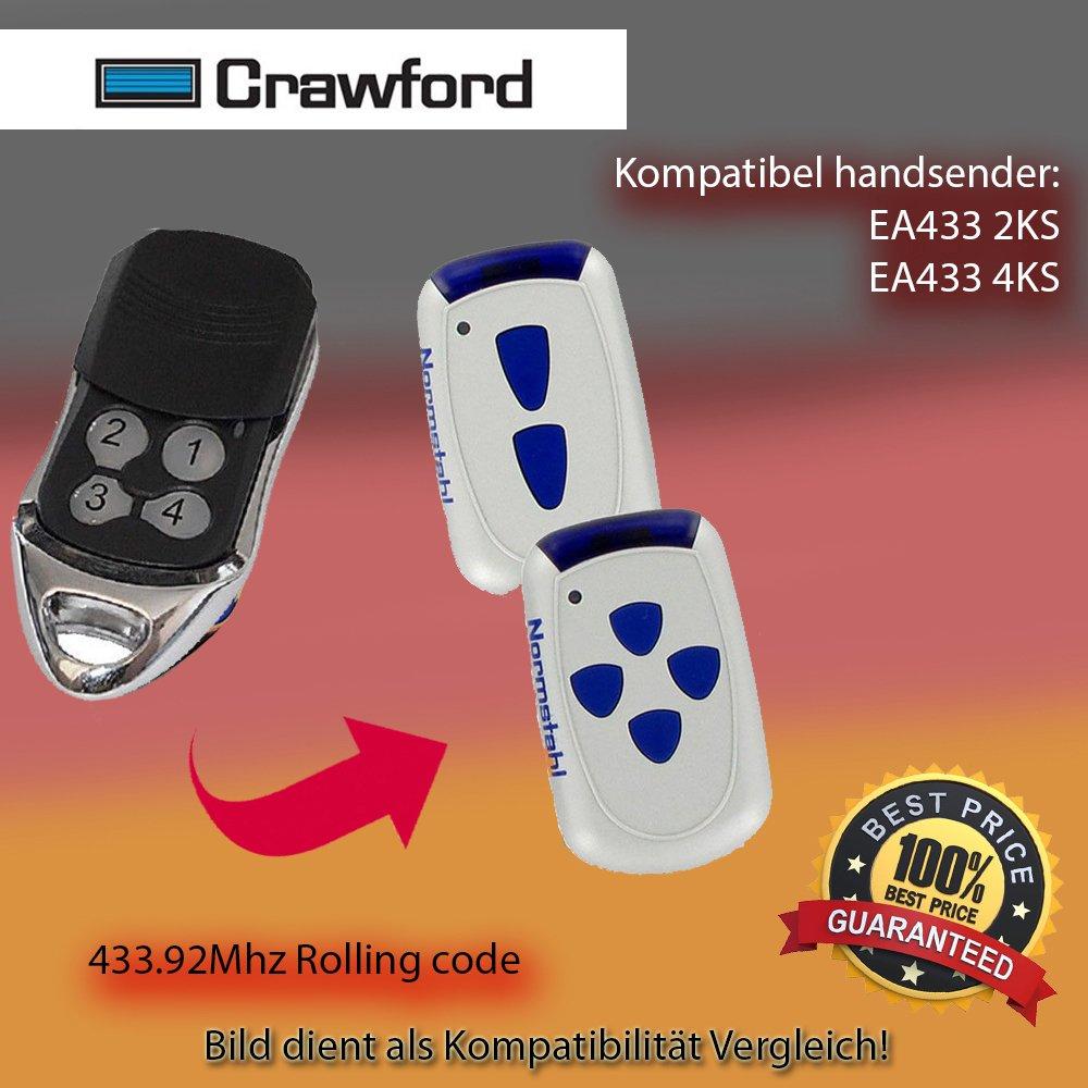 Compatible é metteur Manuel de Rechange pour 433, 92 MHz Crawford ea433 2 KS 92MHz Crawford ea4332KS