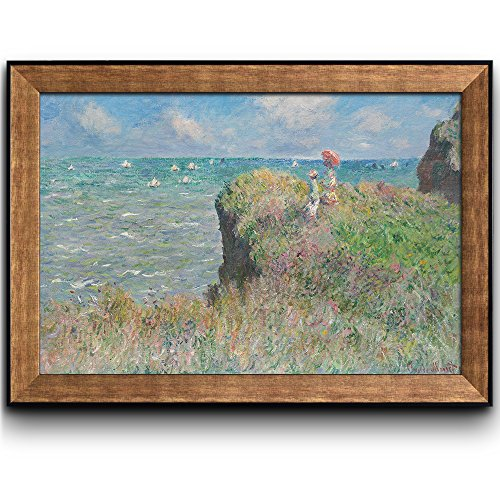 Cliff Walk at Pourville by Claude Monet Framed Art
