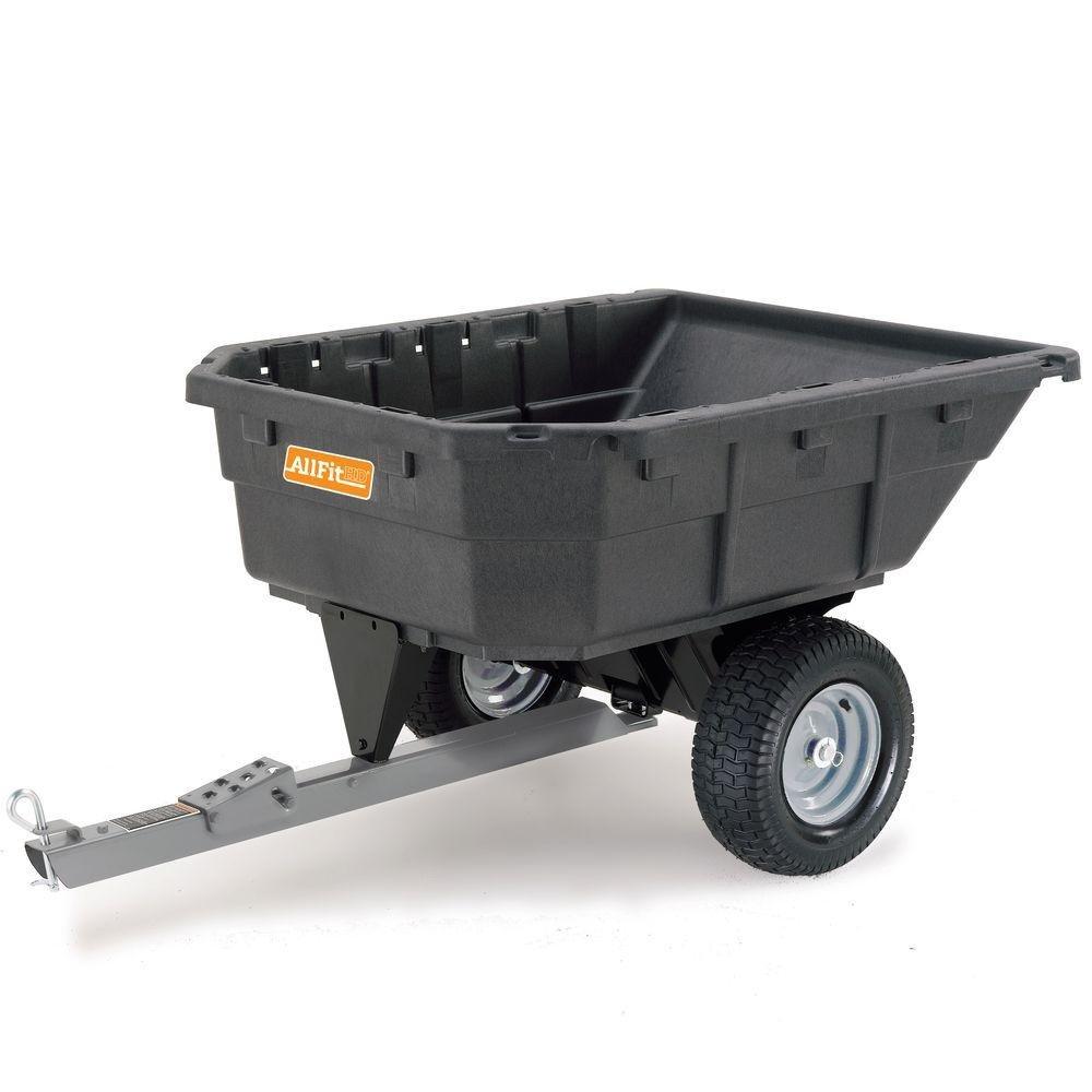 AllFit 12-1/2 cu. ft. Poly Swivel Dump Cart by AllFitHD