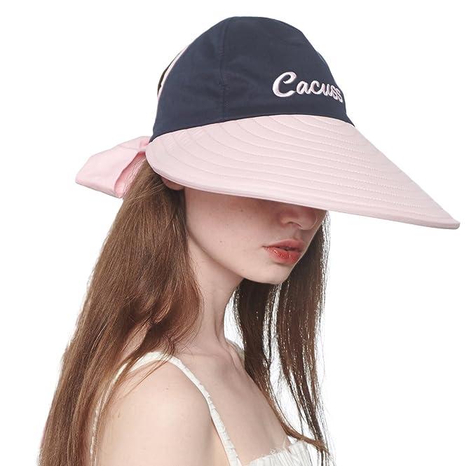 CACUSS Sombrero de Sol de Verano para Mujeres Sombrero de ala Grande Visor  Ajustable Packable UPF 50+  Amazon.es  Ropa y accesorios 49ee40ec5c4