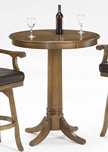 Hillsdale Warrington Round Bar Height Pub Table in Rich Cherry