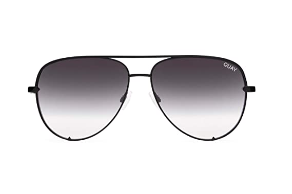 0f9ed1ba21cc Quay Australia HIGH KEY Men s and Women s Sunglasses Classic Oversized  Aviator - Black Fade