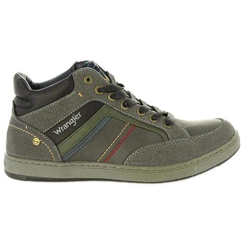 Botines de Hombre WRANGLER WM182101 Marshall Dark Grey: Amazon.es: Zapatos y complementos