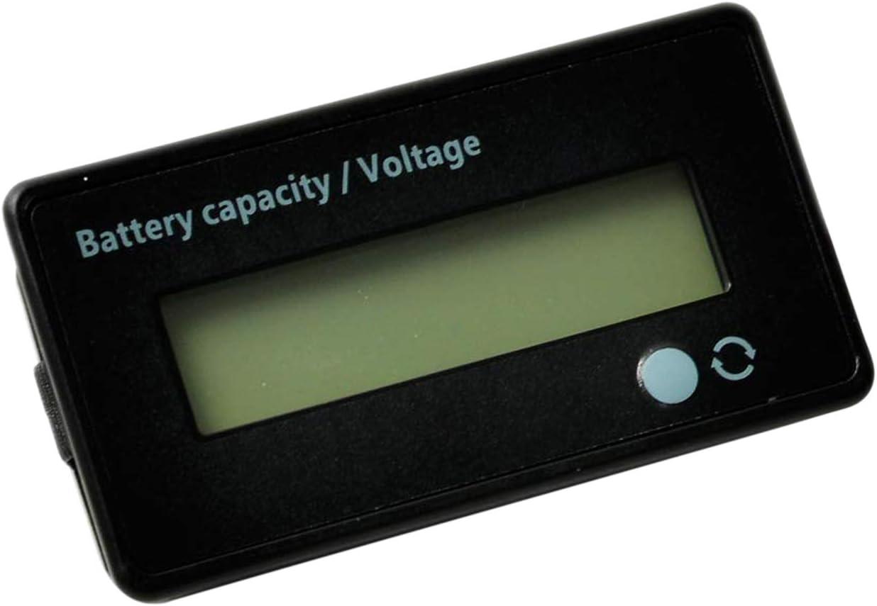 NO BRAND Tuneway 12V 24V 36V 48V Medidor de Batería, Indicador de Voltaje de Capacidad de la Batería, Monitor de Descarga de Carga de la Batería de Ión Litio y Plomo, para Motocicleta