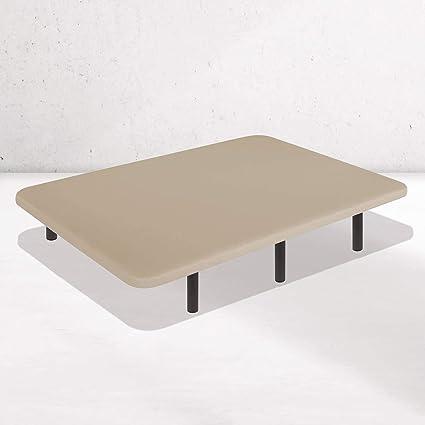 Dreaming Kamahaus Base Tapizada Tejido 3D AIRFRESH en Beige | 135 x 180 cm | 5 Barras transversales | Estructura metálica 30x40mm | Tablero Perforado ...