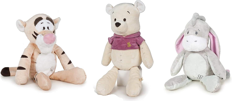 Dsney Winnie The Pooh - Pack 3 Peluches el Oso Winnie + el Tigre Tigger + el Burro Igor Colección Baby 13'77