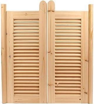 GuoWei Persiana Puerta de Vaivén Madera Hecho Ingreso Cocina Jardín Patio Utilizar Hecho Rústico Estilo, Personalizable (Size : 100cmx100cm): Amazon.es: Bricolaje y herramientas