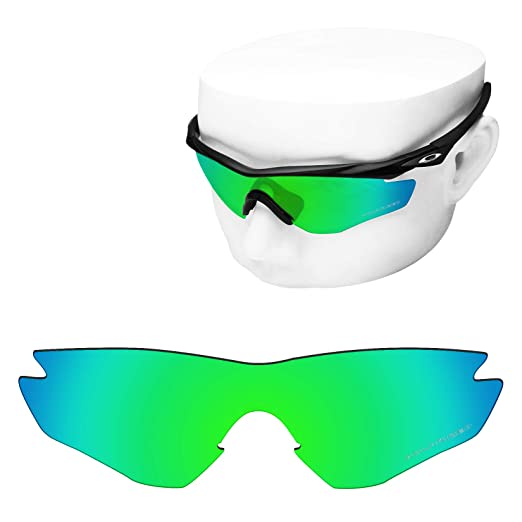 93fd574d52d OOWLIT Replacement Lenses Compatible with Oakley M2 Frame Sunglass Emerald  Polycarbonate Combine8 Polarized