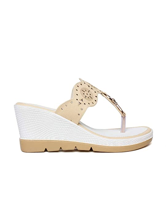 a0b02852a49 BELLA TOES Women Girls Female Ladies Wedding Sandal for Parties Weddings  Wedges for Womens Wedges Sandals for Women (406)  Buy Online at Low Prices  in India ...