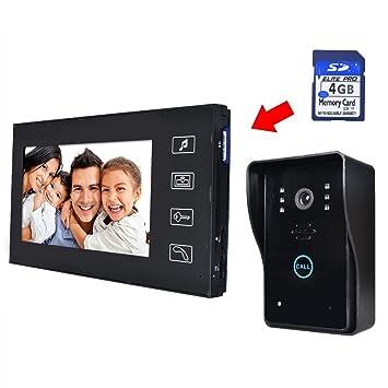 hausuberwachung 7quot lcd video touch ta 1 4 rsprechanlage klingel gegensprechanlage wasserdicht kamera home security rklingel intercom share ideas synonym