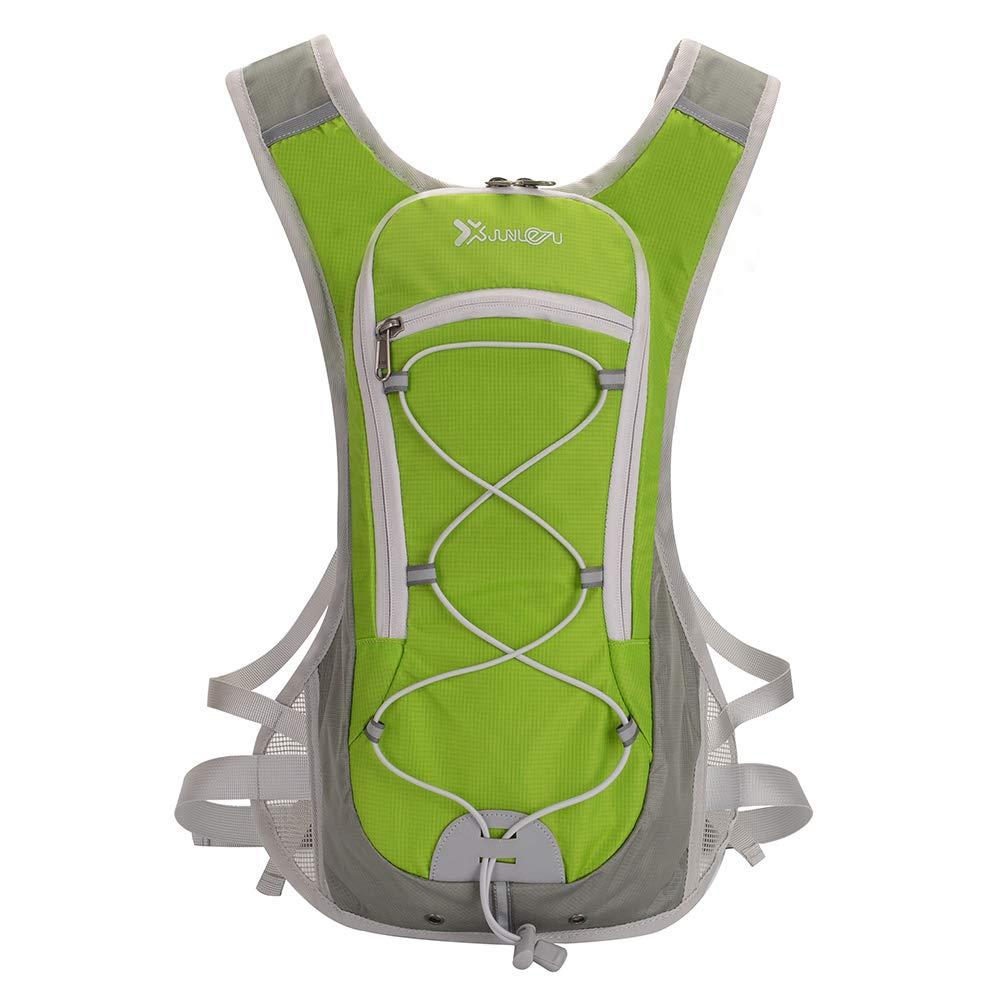 LIOOBO Mochilas de hidratación Nylon Multifuncional Mochila de hidratación para Ciclismo Senderismo Escalada (Verde)