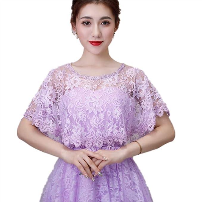 Amazon.com: Chaqueta de novia de encaje rojo marfil para ...