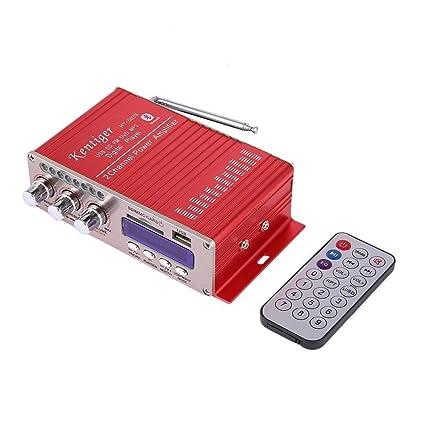 Prom-note Amplificador de potencia Mini Digital Audio Estéreo Casa Amplificador Bluetooth estéreo de alta
