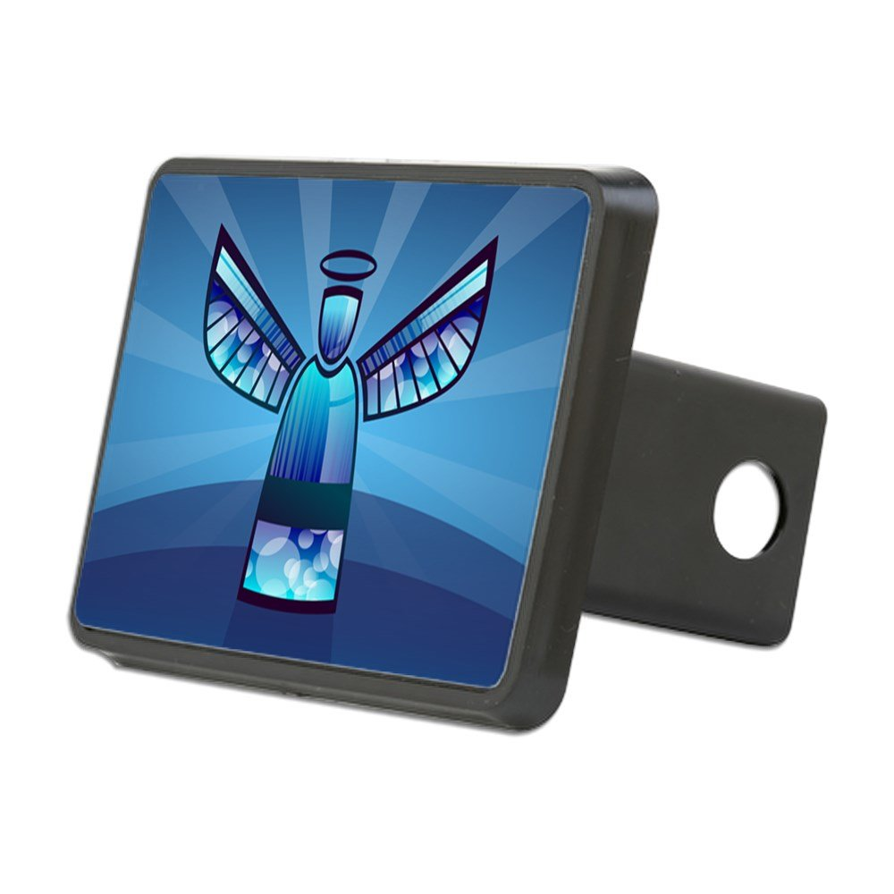 Rectangular Hitch Cover Contemporary Abstract Stained Glass Angel