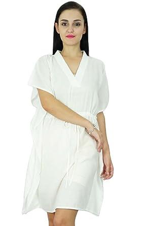 Bimba femmes Plaine Robe caftan Plage Cover Up coton Caftan solide 99c28282281