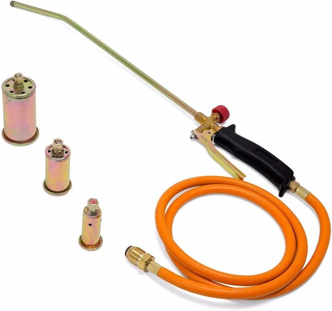 Propane Torch Nozzle Melter Weed Burner Roofing Welding Torch Kit w// 3