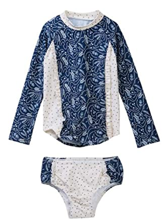 Amazon Com Jessica Simpson Baby Girls Insignia Blue Feather Floral