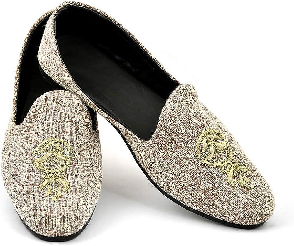 Lalhaveli Anti Slip Rubber Sole Comfortable Indoor Outdoor Loafer Shoe for Men