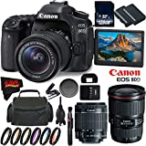 Canon EOS 80D DSLR Camera + 18-55mm Lens + Canon EF 16-35mm f/4L IS USM Lens + 128GB Memory Card International Version