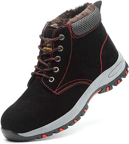 Chaussure de Travail Hiver Homme Femme Chaussure de S/écurit/é Chaudes Embout en Acier Sneakers