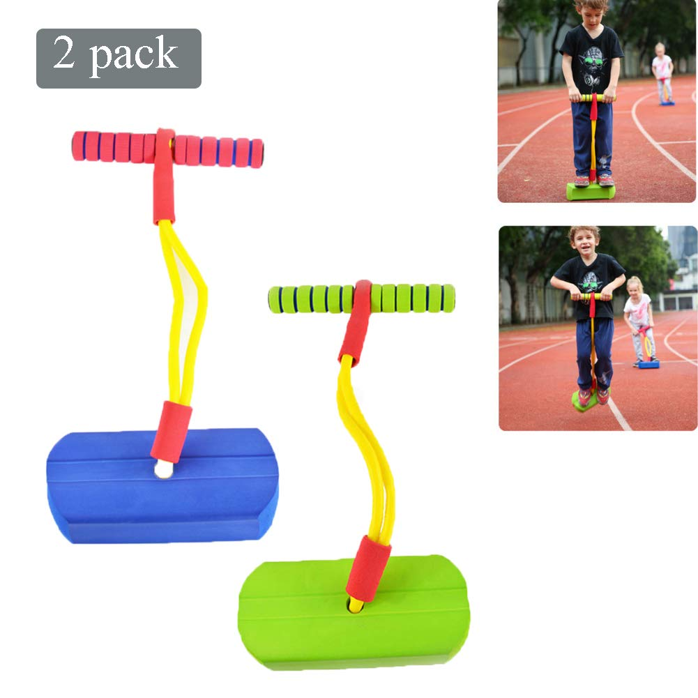 Pogo Stick Children's Jumping Stick Toy Bouncing Bubble Jumper Durable for Boys and Girls,C