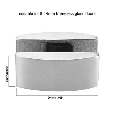 304 Conjuntos de abrazaderas de bisagra de pivote de puerta de vidrio de acero inoxidable sin marco de puerta corrediza de vidrio tapón de fijación para baño: Amazon.es: Industria, empresas y ciencia