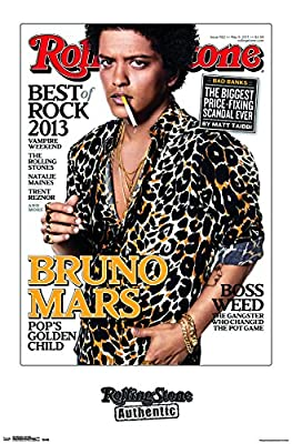 Trends International Rolling Stone Magazine - Bruno Mars 13 Premium Poster and Poster Clip Bundle