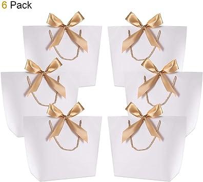Amazon.com: WantGor - Bolsa de papel con lazo y asas para ...
