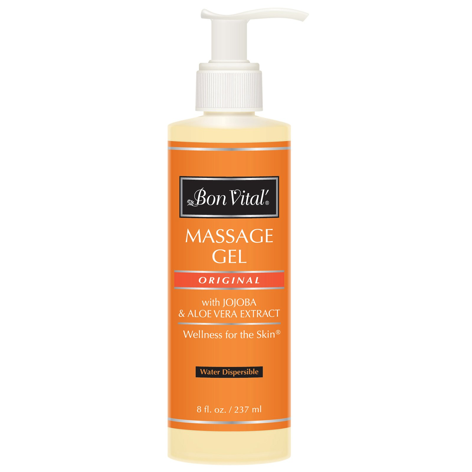Bon Vital' Original Massage Gel for a Versatile Massage Foundation to Relax Sore Muscles and Repair Dry Skin, For Massage Therapists Who Want Superior Glide & Gentle Friction for Clients, 8 Oz Bottle