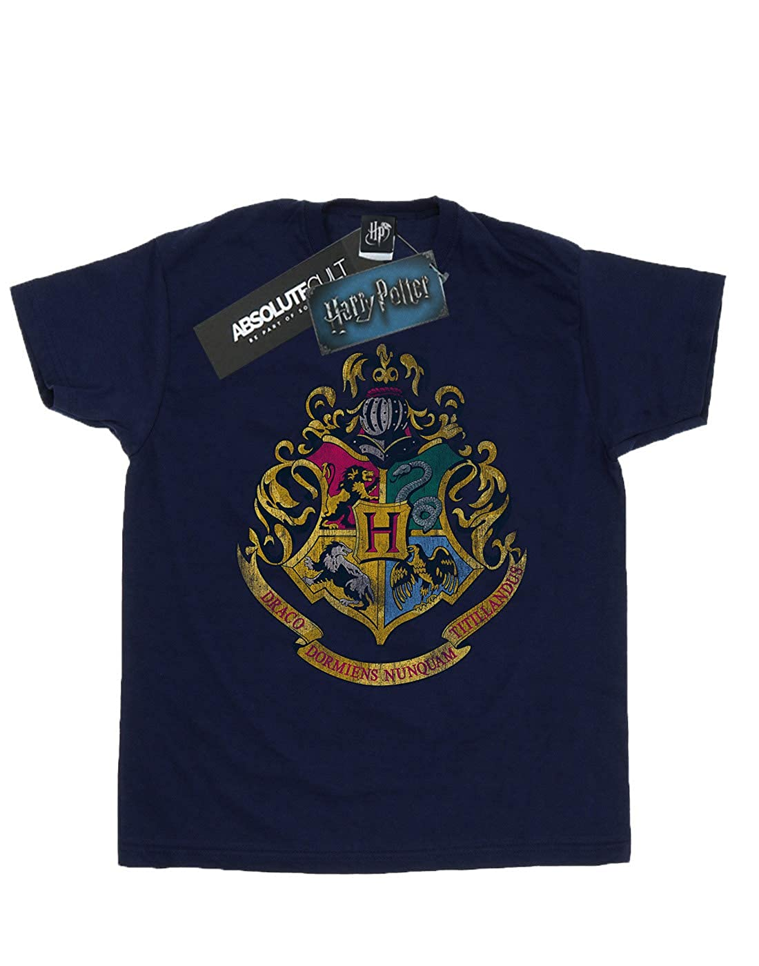 HARRY POTTER Hombre Hogwarts Distressed Crest Camiseta ...