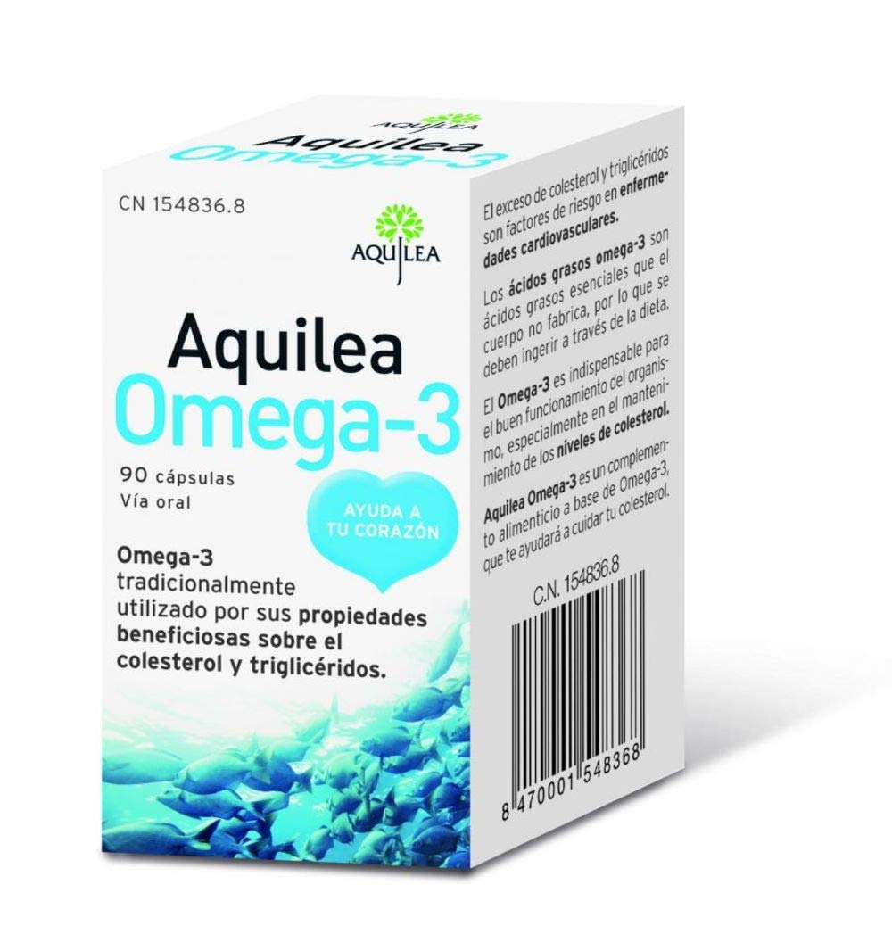 Amazon.com: Aquilea Omega 3 90 Capsules - Discover The Properties of Omega 3 in Your Body, Fight Against Cholesterol - Regulates The Cholesterol in Your ...
