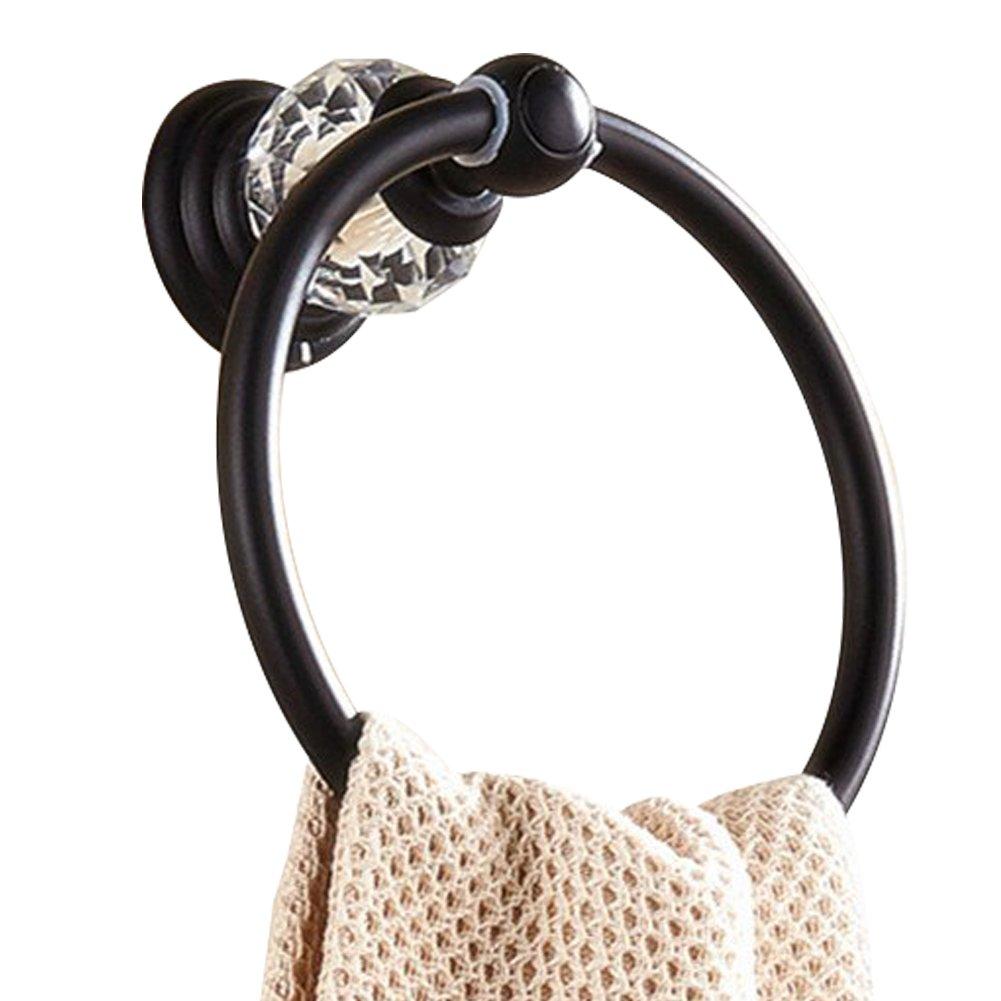 CASEWIND Einzeln Handtuchstange Handtuchhalter mit Kristall Alle Legierung Konstruktion zum Bohren /Öl Rubbed Bronze Finished Oberfl/äche f/ür Badezimmer