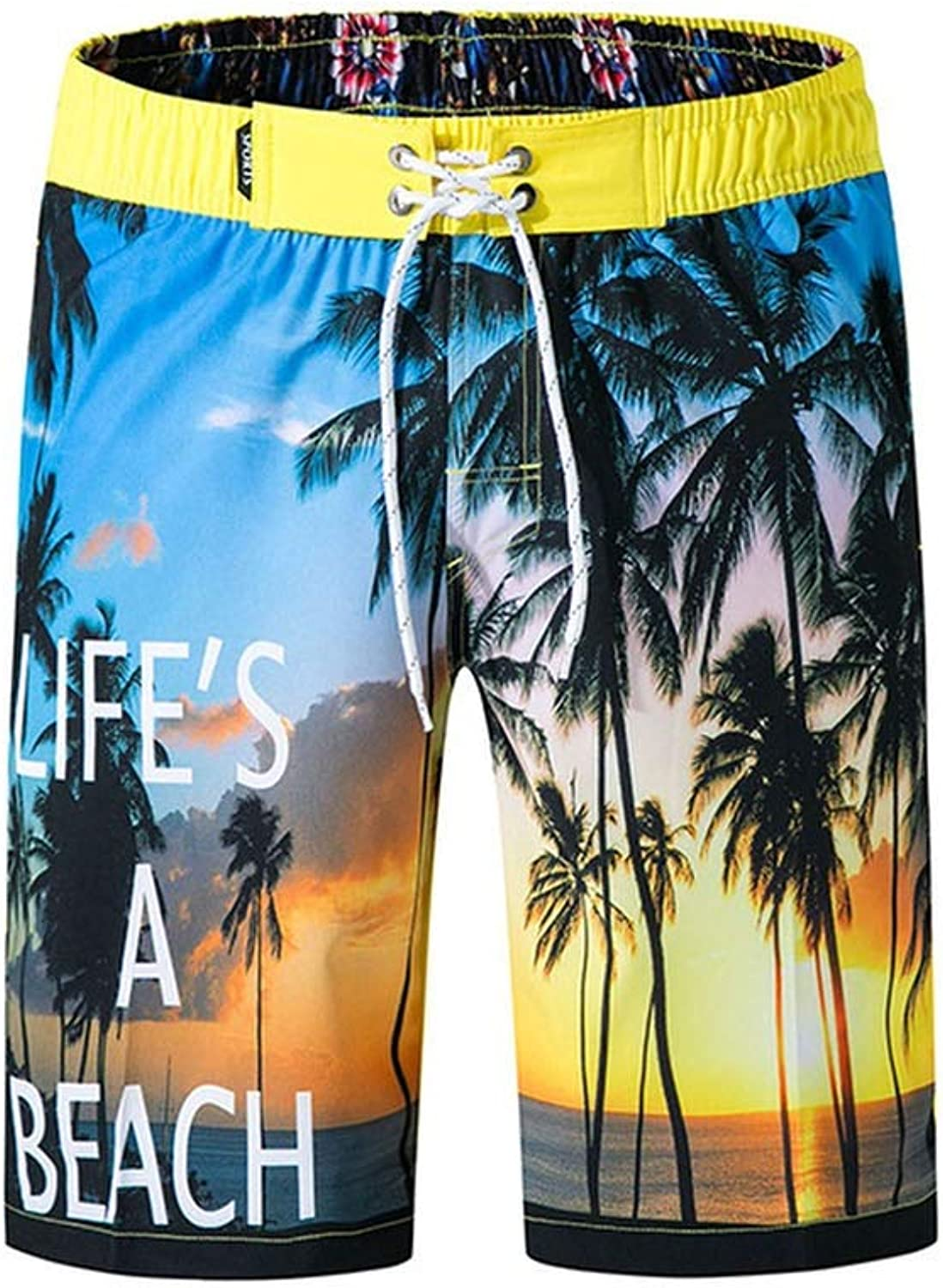 HappyWe Mens Swimsuits Eagle Print Beach Wear Beach Board Summer Quick Dry Bathing Suits Surfing Shorts