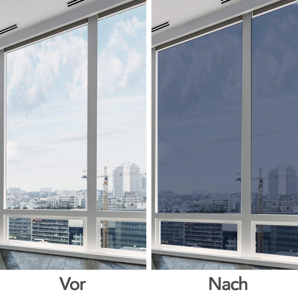 fancy-fix verspiegelte Sonnenschutzfolie für Fenster, Fensterfolie ...