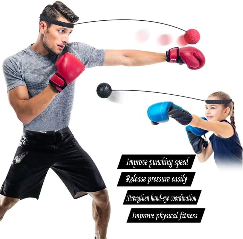 Watenkliy Boxball Boxing Reflex Ball mit 3 Gewichtstypen und 1 Stirnband f/ür Speed Boxing Boxtraining Fight Training