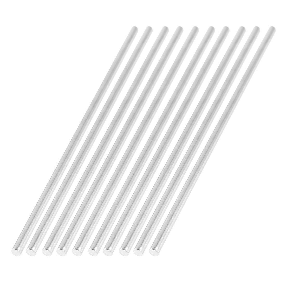 Sourcingmap Lot de 10/tiges en acier inoxydable pour miniature de voiture 2/x/100/mm projet de bricolage