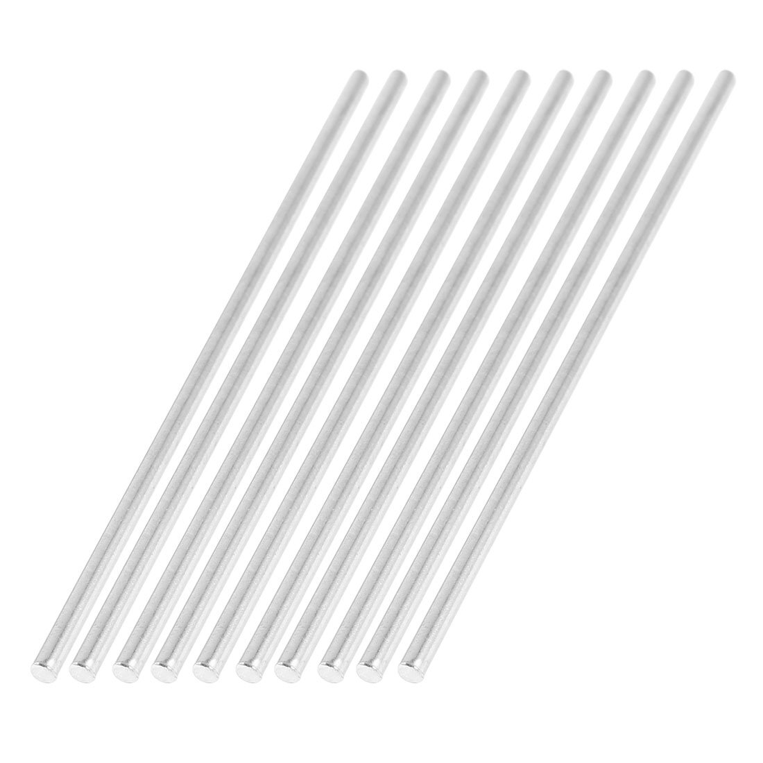 uxcell 10 Pcs Car Model Toy DIY Stainless Steel Axles Rod Bars 2mm x 100mm