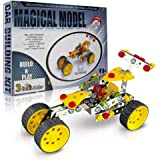 3 Bees & Me STEM Car Building Toy Kit for Kids 8 to 11 Years - 6 & 7 Can Do with Help - Unique & Fun
