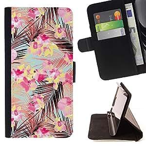Rosa Ramos deja el modelo del trullo Flores- Modelo colorido cuero de la carpeta del tirón del caso cubierta piel Holster Funda protecció Para Apple (4.7 inches!!!) iPhone 6 / 6S
