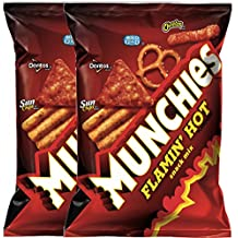 Munchies Flamin' Hot Snack Mix Net WT. 3 Oz Snack Care Package For College, Military, Sports (2)