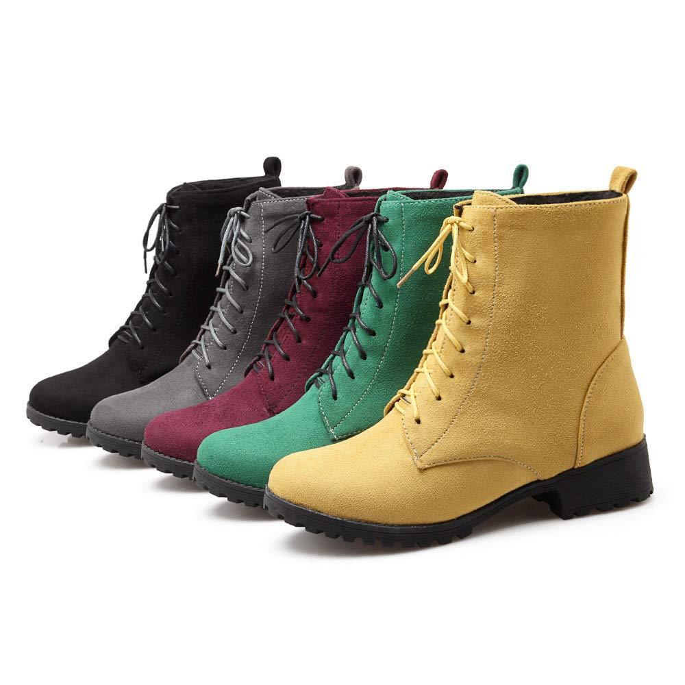 HOESCZS Frauen Schuhe Winter Lace Martin Stiefel Damen Große Größe Benutzerdefinierte 40 46 Kurze Stiefel B07JK95PWM Sport- & Outdoorschuhe Ausgezeichnet