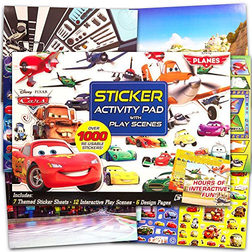 Disney Cars Stickers and Activity Book Set (Over 1000 Stickers, 12 Play Scenes and -