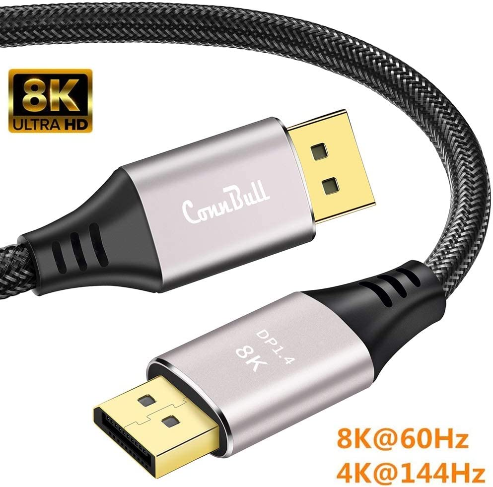 ConnBull 100K DisplayPort 10.10 Cable 10m, Ultra HD DisplayPort 10K 101010Hz Monitor  Video Cable Support HBR10(761000x1010100 Resolution), 1010.10Gbps, HDR100, eARC, 10D,