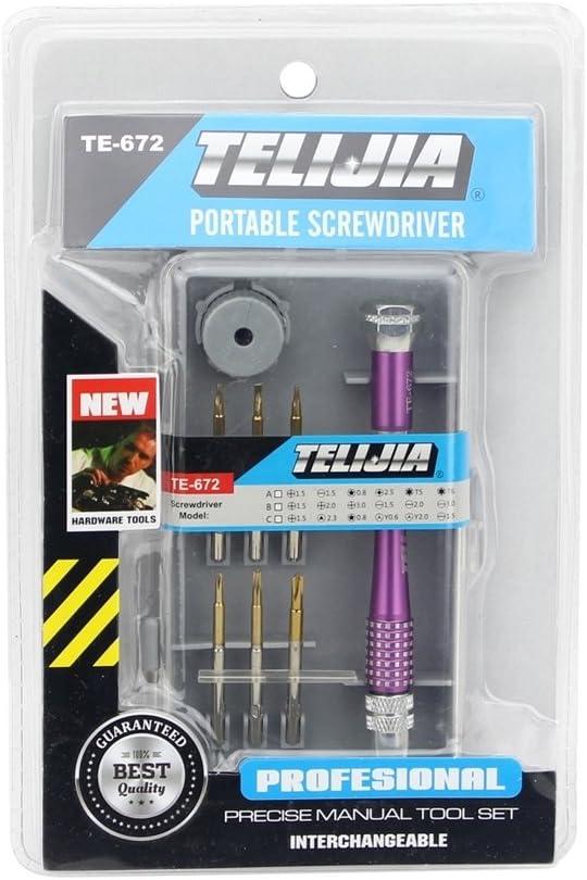 Deluxe Cell Phone Repair Tool Kits Professional TE-967A 8 in 1 Screwdriver Repair Tool Set Repair Kits