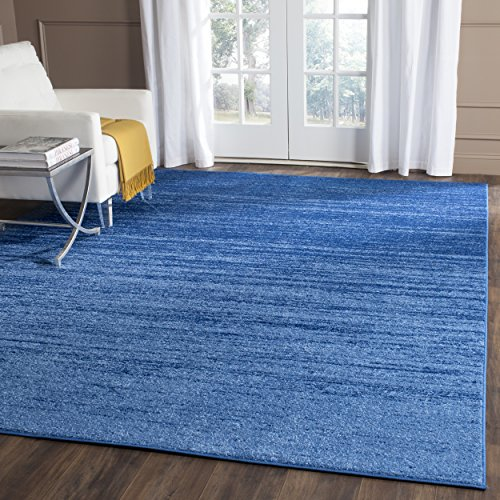 (Safavieh Adirondack Collection ADR113F Light Blue and Dark Blue Modern Abstract Square Area Rug (6' Square))