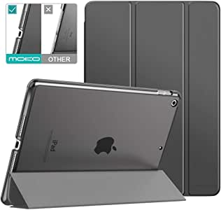 """MoKo Case Fit New iPad 7th Generation 10.2"""" 2019 / iPad 10.2 Case - Slim Lightweight Smart Shell Stand Cover with Translucent Frosted Back Protector for iPad 10.2 2019, Space Gray(Auto Wake/Sleep)"""