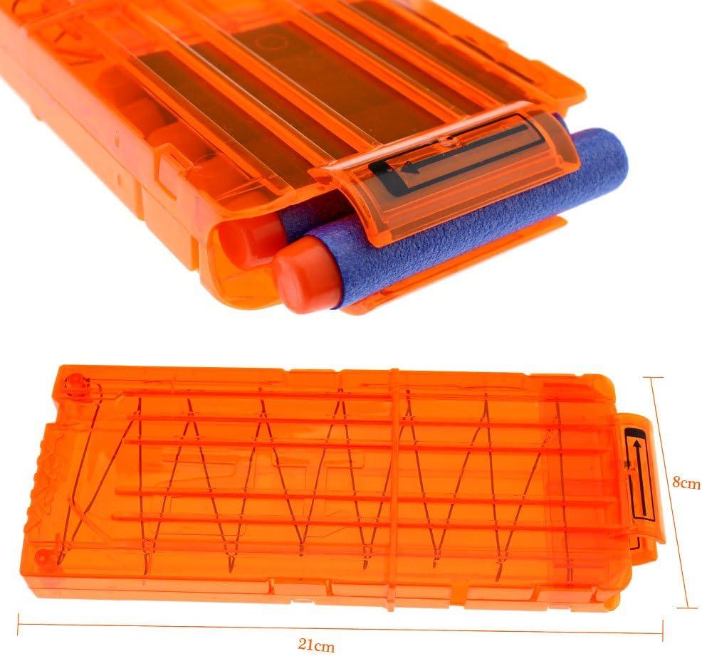 Tbest Chargeur de Fl/échettes 18-Fl/échettes Clip Chargeur Mousse Obtusion Recharge Balle pour Pistolet Jouet